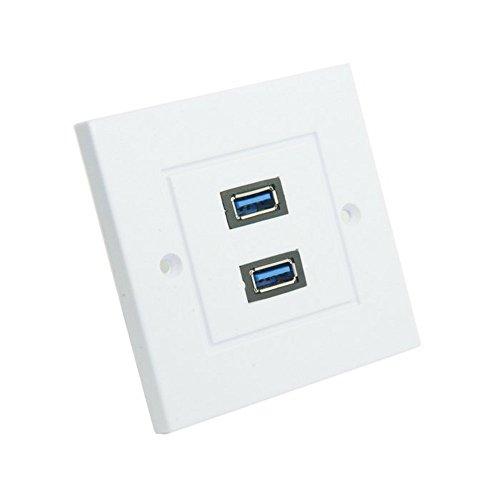 Dual Ports USB 3.0Datenkabel Ladegerät Wall Face Plate Panel Dock Station 86mm, quadratisch, Typ tl-047 Dual-port-wall Plate