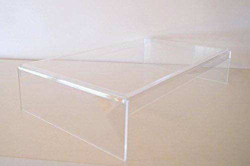 Prodest/Monitor Ständer Erhöhung/Bildschirm Standfuß/TV Hi-Fi Bank Aufsatz aus Acrylglas - Neues Design! Extra Breit 47,5 cm x 27 cm x 10 cm (Transparent)