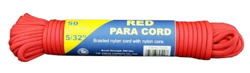 T.w. Evans Cordage 79–510 para Cord, 50-Feet, Rouge