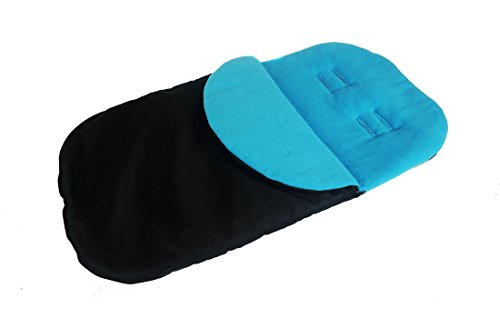 Saco universal De dormir para un niño Bebé todo asiento de coche el vellón Turquoise