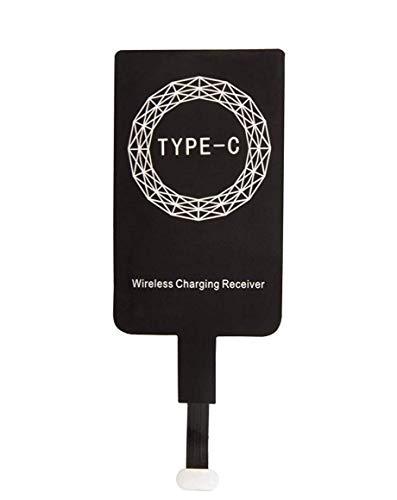 SHOP-PRIME Kabelloser Lade-Empfänger, ultradünn, kabelloser Empfänger, Qi-Empfänger, kompatibel mit QI für Mikro-USB Type-C für Huawei P10 P20 Lite, LG G5 G6, Samsung A3 A5 2017