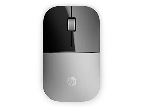 HP Z3700 (X7Q44AA) kabellose Maus (1200 optische Sensoren, bis zu 16 Monate Batterielaufzeit, USB Anschluss, Plug&Play) silber -