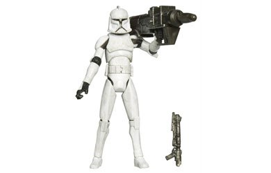 Hasbro Clone Trooper with Missile Firing Cannon (dirty Version) CW05 - Star Wars The Clone Wars (Star Wars Clone Trooper Rüstung)