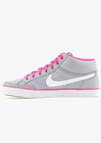Nike Capri 3 Mid Txt Gs, Chaussures de Sport Fille gris - Gris (Gris (Wlf Grey / White-Pnk Blst-Cl Gry))