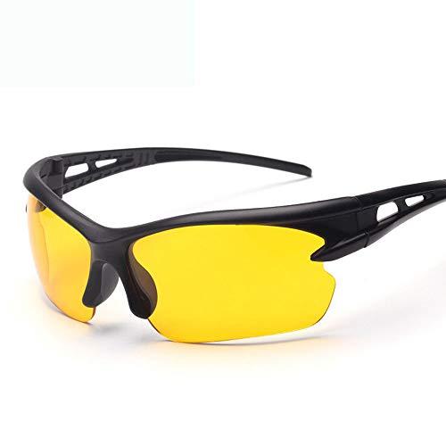 NAN® Herren Und Damen Outdoor Reitbrille Polarisiert Sport Sonnenbrille Jugend Angeln Baseball Bike Laufen Fahren Golf Motorrad Brille,Yellow