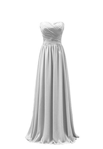 Bridal_Mall - Robe - Trapèze - Sans Manche - Femme Weiß