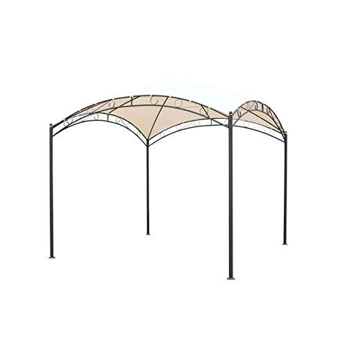 VARILANDO moderner Garten-Pavillon aus Stahl und Polyester Party-Pavillon Party-Zelt