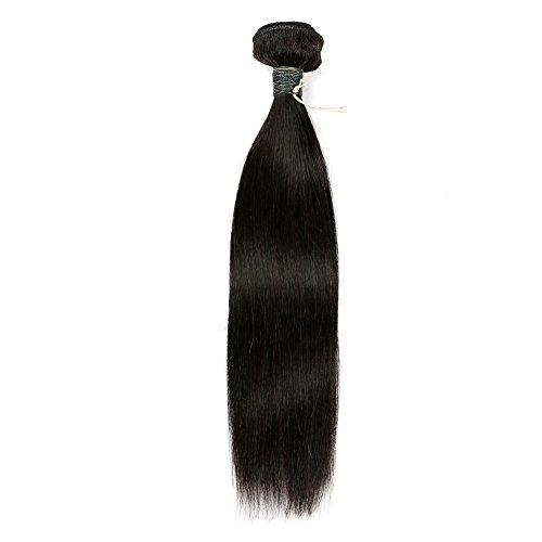 BLISSHAIR brésiliens vierges Cheveux soyeux Bundle de cheveux humains 7 A Tissage brésiliens Cheveux raides Naturel Noir 100 g