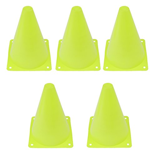 Red R SODIAL 6 PCS Multi-function Safety Agility Cone for Football Soccer Sports Field Practice Drill Marking
