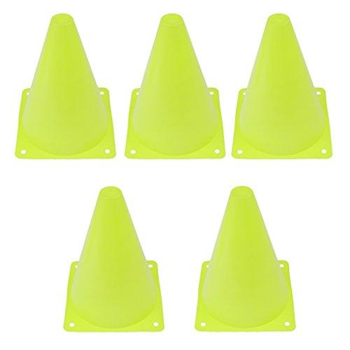 6pcs Cono Agilidad De Seguridad De Múltiples Funciones Para El Marcado De Las Prácticas De Campo Deportes Fútbol Fútbol Taladro - Verde