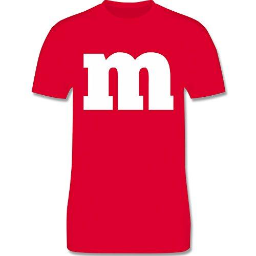 - Gruppen-Kostüm m Aufdruck - L - Rot - L190 - Herren T-Shirt Rundhals (Beliebten Herren-kostüme)