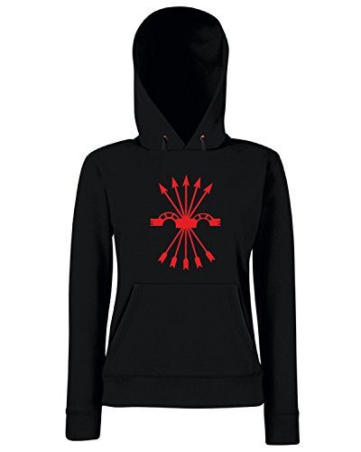 T-Shirtshock - Sweats a capuche Femme TM0289 falange spagna Noir
