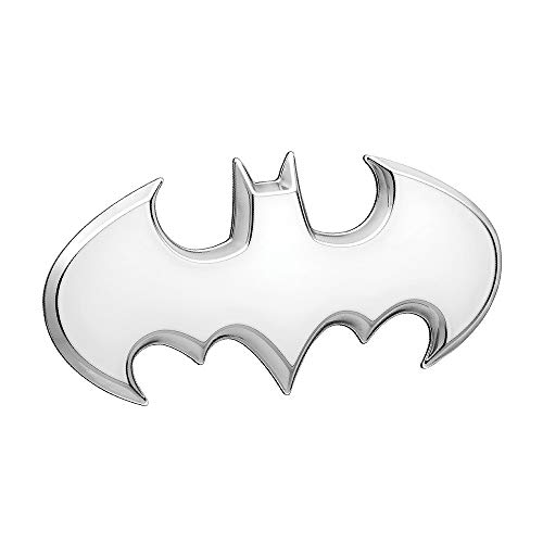 Fan Emblems Batman Batwing Logo 3D Auto Emblem Satin Chrom, DC Comics Automotive Aufkleber Abzeichen Flexes vollständig an Autos, Lastwagen, Motorräder, Laptops, Windows, fast alles zu ()