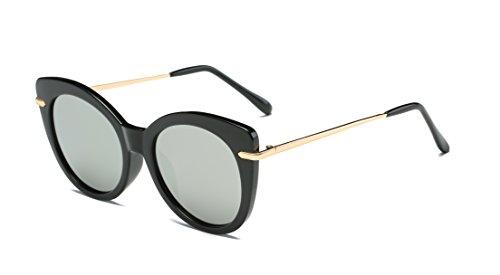 Manyip Sonnenbrillen Sportbrillen sunglass Die neue Runde Art und Weise Sonnenbrille Metallrahmen Sonnenbrille unisex Sonnenbrille Gezeiten Persönlichkeit(JR-309) (B)