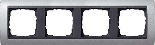 Preisvergleich Produktbild Gira 021406 Abdeckrahmen 4-fach Event aluminium mit anthrazit Zwischenrahmen
