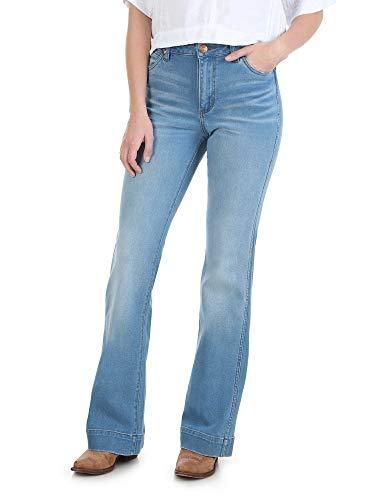 Wrangler Damen Retro Premium High Waist Trouser Jeans, Vintage Light, 31W x 34L -