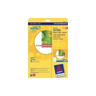 Avery Zweckform, Extra Extra J8676A 25Sheets Special CD/Dvd Labels No Touch Technology for
