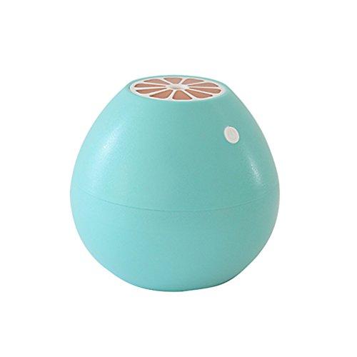 VORCOOL Mini Humidificador Aromaterapia Ultrasónico USB Humidificador de Aire LED Forma de Pomelo para Casa Oficina Yoga SPA Azul Cielo