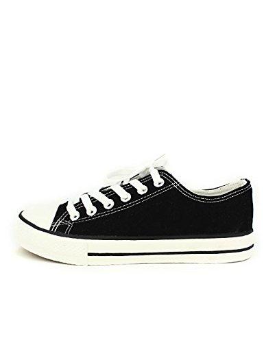 Cendriyon Basket Noire CENVERS Toile Grandes Pointures Chaussures Femme
