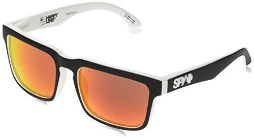 Spy Herren Sunglasses Helm Sonnenbrille, Whitewall - Happy Gray Green W/Red Spectra, 57