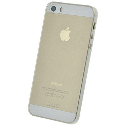 le für iPhone 5 5S SE, Ultra Dünn Fein Matt Handyhülle Cover Bumper Schutz Schale Hard Case Taschenschutz Design Schutzhülle, weiß ()