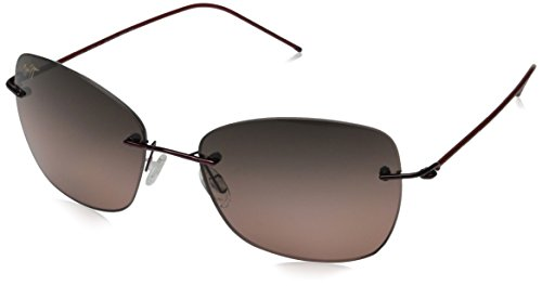-SG Burgundy Apapane Square Sunglasses Polarised Lens Category 2 ()