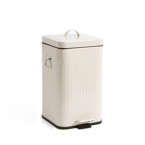 LIUFS Mülltonnen Quadratische Dual-Hand-Hand-stumm Trash Haushalt Pedal Mülleimer Küche Mülleimer mit Deckel 12L (größe : 12L) - Mülltonne Dual