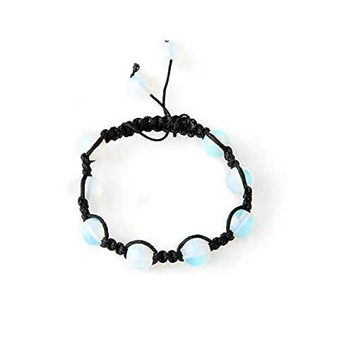 Skyllc® Opal Beads Braided Adjustable Bracelet Bangle Women Chic