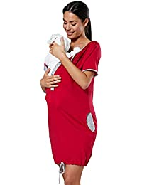 HAPPY MAMA Women s Maternity Nursing Delivery Hospital Gown Nightwear 209p  Black 903de19a8