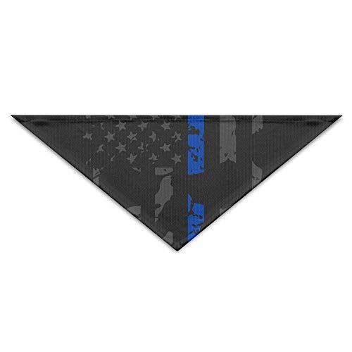 Gorgeous Socks Nette dünne Blaue Linie Polizei-amerikanische Flagge beunruhigte Haustier-Schal-Zusätze der Schädel-Faser-100% justierbar für alle sortierten Hundekatzen-Haustiere -