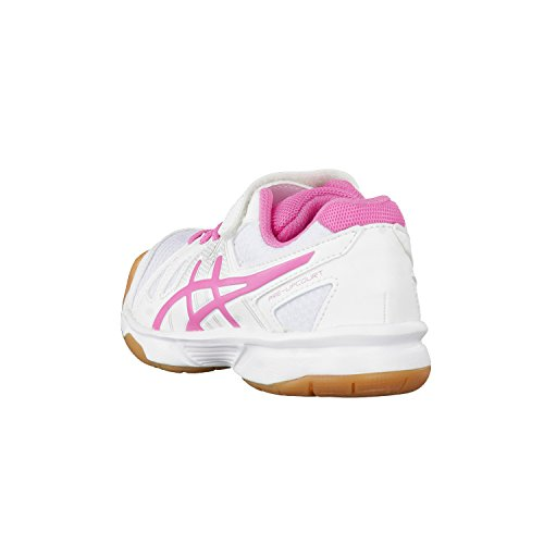 Asics Pre-Upcourt Ps, Scarpe Sportive Indoor Unisex – Bambini blanc/rose/blanc