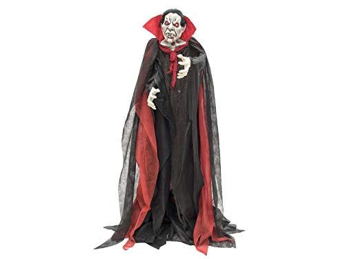 Europalms Halloween Vampir, stehend, 180cm   Rot blinkende LED-Augen   Mit Sound-Effekt