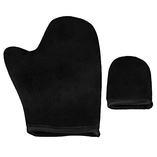 Vococal-Aplicador de guantes Sunless Autobronceador con guante de dedo pequeño para mousse de loción Spray Negro-Establecer B