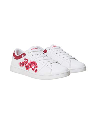 Desigual Shoes (Tennis Hindi Dancer), Scarpe da Ginnastica Basse Donna, Bianco (Blanco 1000) 40 EU