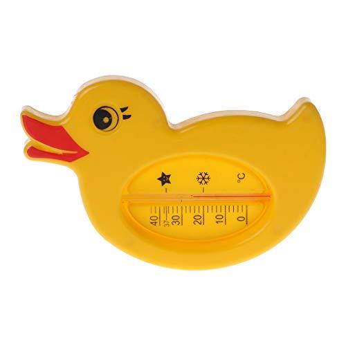 Hothap Duckling Digitales Wasserthermometer und Badespielzeug, Badethermometer für sicheres Baden, Gelb, 6x11cm