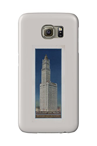 woolworth-building-new-york-vintage-poster-usa-c-1913-galaxy-s6-cell-phone-case-slim-barely-there
