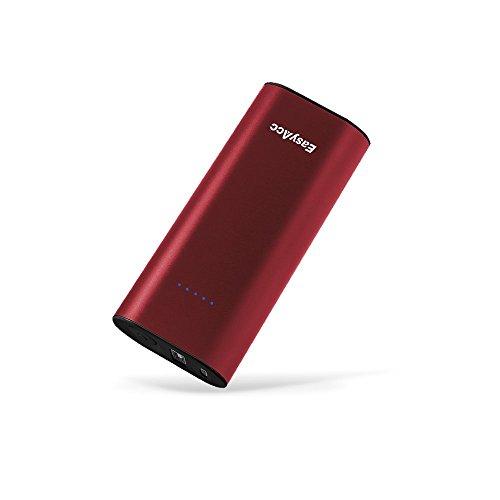 EasyAcc di 2da Gen Metallo 6700mAh Power Bank Batteria Esterna Pacchetto Portatile Caricabatteria per iPhone Samsung Smartphones - Nero & Rosso