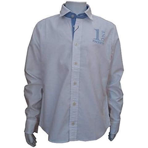 HACKETT - Camisa de manga larga Numb, niño, Color: Blanco, Talla: 4 años