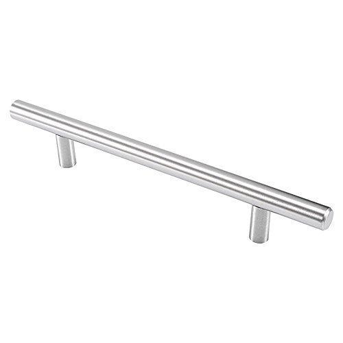 GedoTec® Moderner Design Edelstahl Möbelgriff Ø 12 mm Modell LUNA für Holzladen & Schubladen | aus rostfreien Edelstahl V2A matt | Bohrabstand 288 mm | Relinggriffe Höhe 28 mm | Markenqualität für Ihren Wohnbereich Hettich-schubladen 12