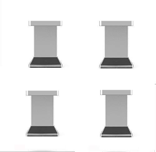 Schrank Leg (Furniture legs Vier quadratische Aluminium-Sofa Beine Schränke TV-Schränke erhöht Möbelfüße Kaffeetisch Beine Metallbett Füße)