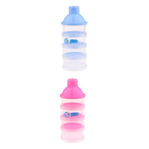 4 Schichten Fütterungsbehälter Babynahrung Milchpulverspender Formula Box