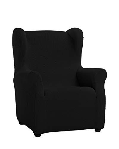 Martina Home Schutzhülle aus elastischem Sessel Modell Tunez Bezug für Ohrensessel 33x42x8 cm Schwarz