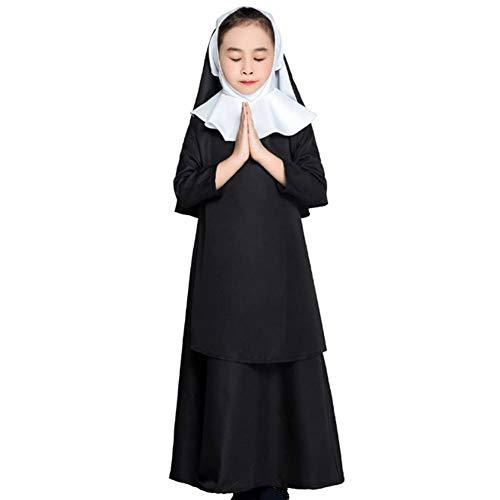 GUAN Halloween Familienkostüme Nonnenkostüme Jesus Christus Mädchenkostüme Schulkostüme