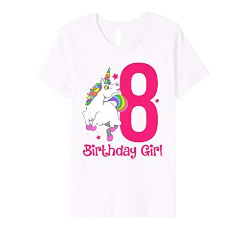 83dc6046b03d Youth Unicorn 8th Birthday Girl Shirt Kids Toddler Photo Prop Gift