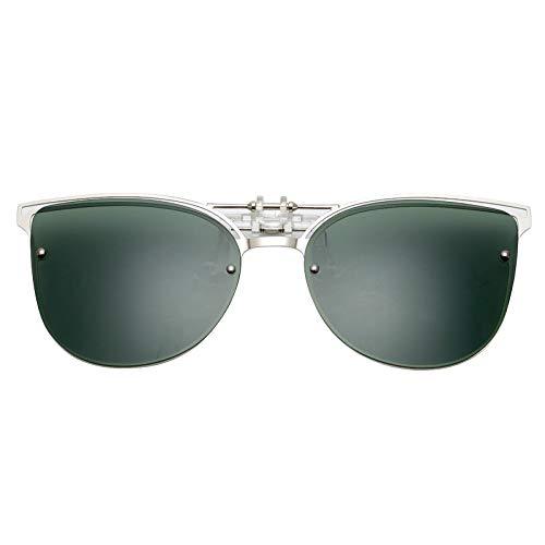 YLYZJH Cat Eye Sonnenbrillen Clip auf Frauen Männer Polarisierte Spiegel Objektiv Uv400 Sonnenbrille Clip Brillen Für Fahren
