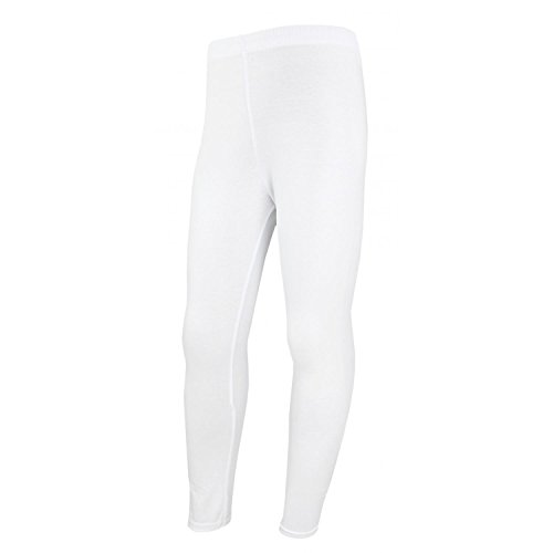 TupTam Mädchen Leggings Lange Leggins Blickdicht Baumwolle , Farbe: Weiß, Größe: 140