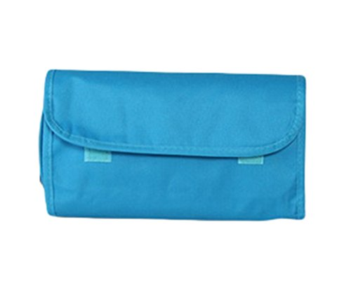 Bigood Pliable Sac de Rangement Étanche Trousse de Cosmétique en Polyester Grand Taille Bleu