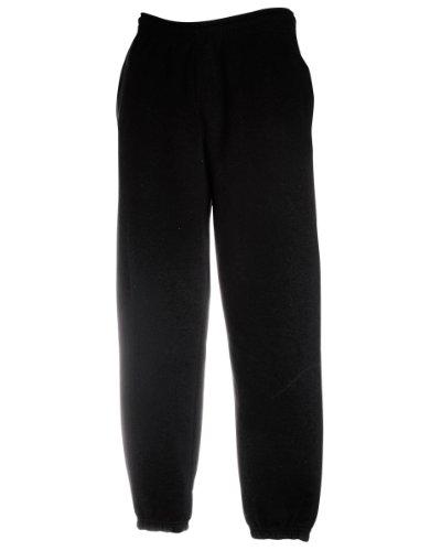 Fruit-of-the-Loom-Herren-Freizeithose-mit-elastischem-Beinabschluss-64-026-0-Black-S