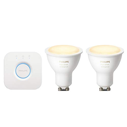 Philips Hue Starter Kit 2 faretti GU10 White Ambiance + bridge