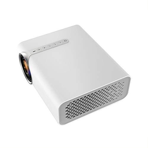 Yesmile Beamer, Mini Beamer mit Einer Verkaufsverpackung, Videobeamer unterstützt 1080P Full HD, Verbindung mit Set-Top-Box Computer VGA HDMI USB AV, Heimkino Beamer Schwarz Weiß